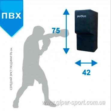 Боксерская подушка настенная BS - Аперкотная прямая, ПВХ, 75x42x30см