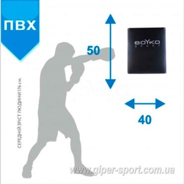 Боксерская подушка настенная BS - прямая, ПВХ, 50x40 x18см