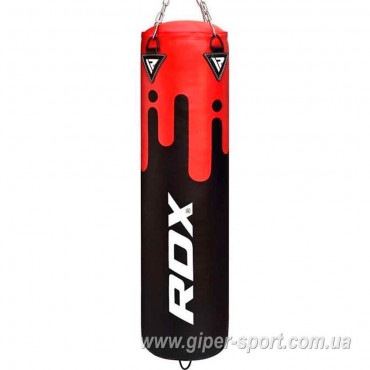 Боксерский мешок RDX Leather Black/Red 1.5 м, 45-55 кг
