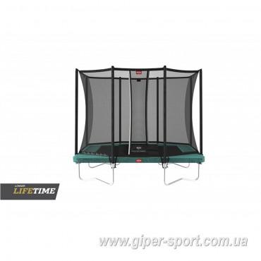 Батут BERG Ultim Favorit Regular 280 Green + сетка Safety Net Comfort